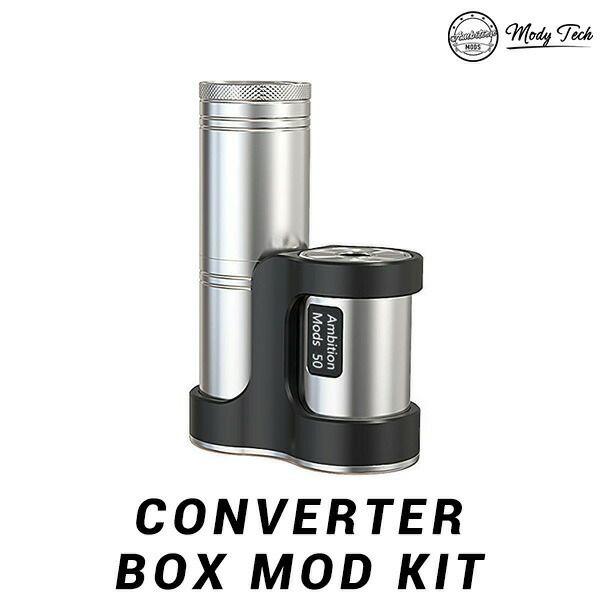 AmbitionMODS CONVERTER BOX MOD KIT アンビションモッド モッズ コンバーター モッド vape テクニカルMOD チューブ 18650 18350 ステルスMOD</